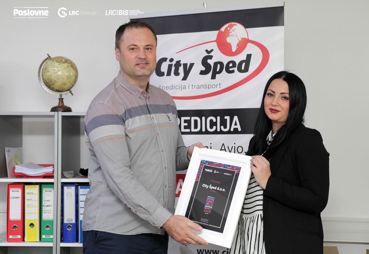 City Šped d.o.o. Sarajevo introduced a complete logistics service in 2021.